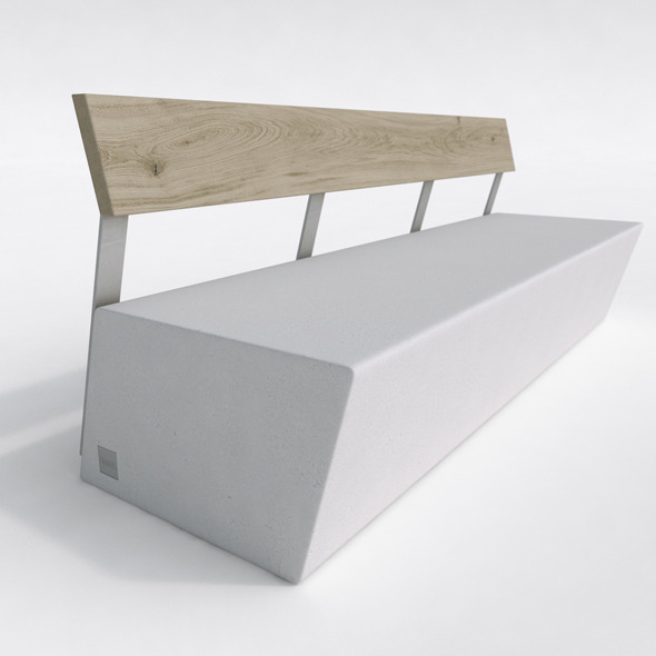 3DOcean Outdoor Bench- Escofet ZUERA 6180115