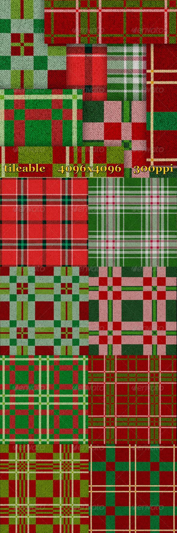 GraphicRiver 8 Christmas Plaid Textures 6180299