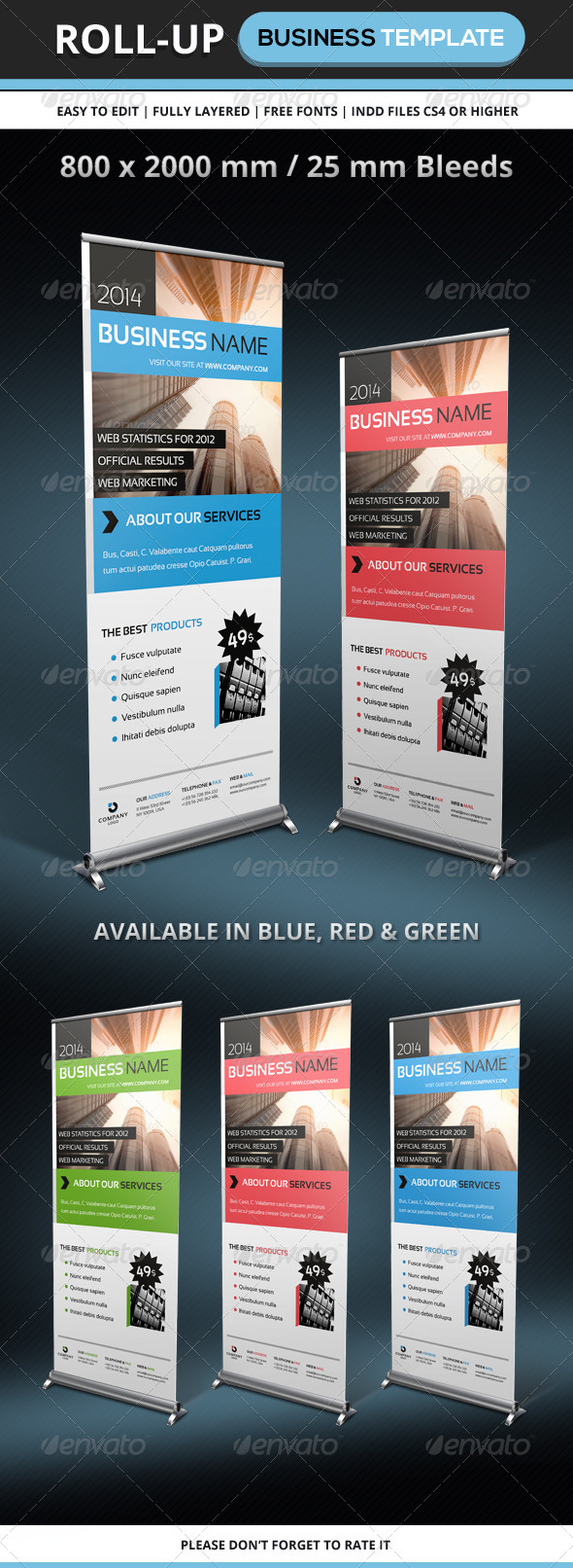 GraphicRiver Corporate & Business Rollup template 6180373