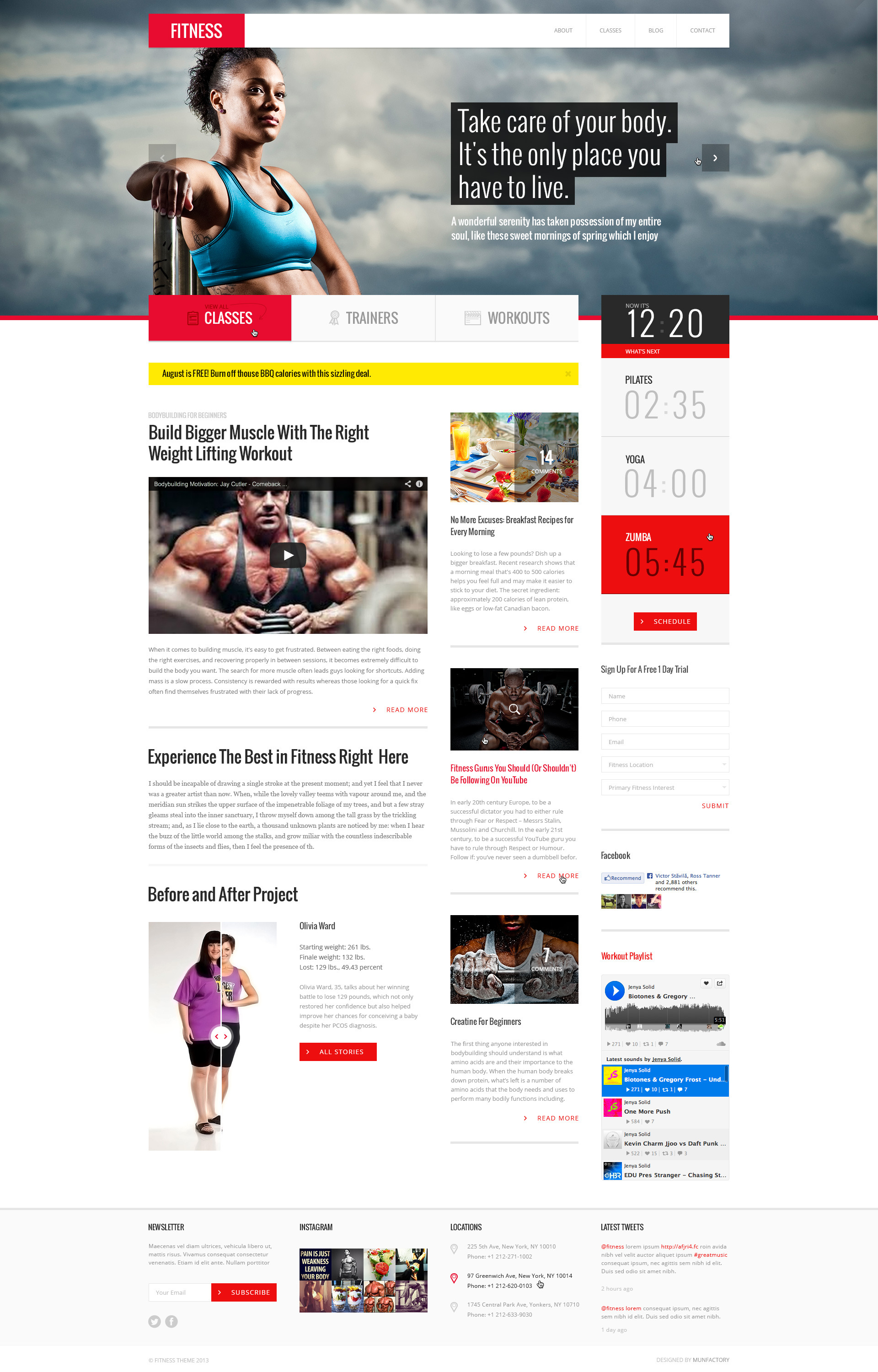 Fitness :: PSD Template