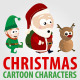 Christmas Cartoon Characters - GraphicRiver Item for Sale
