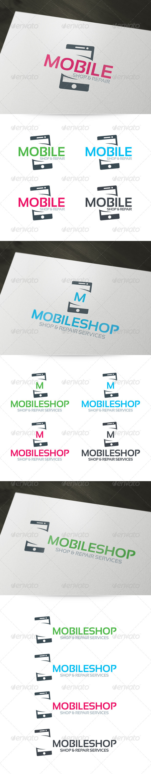 GraphicRiver Mobile Shop & Repair Logo 6156880