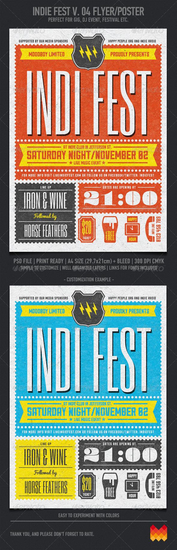 GraphicRiver Indie Fest V 04 Flyer Poster 6174319