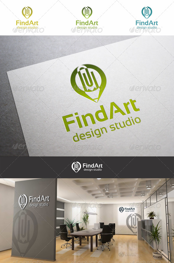 Find Art Pencil Design - Objects Logo Templates