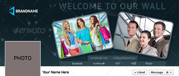 GraphicRiver Brand Facebook Timeline Cover PSD NEW 6181203