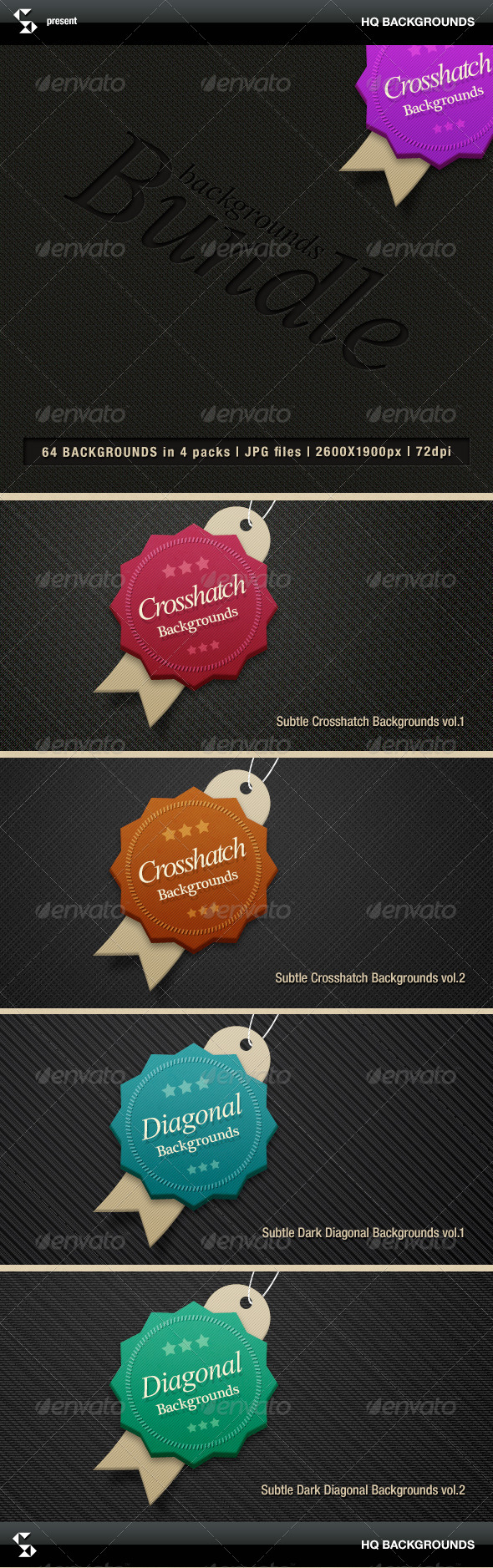 Subtle crosshatch backgrounds bundle