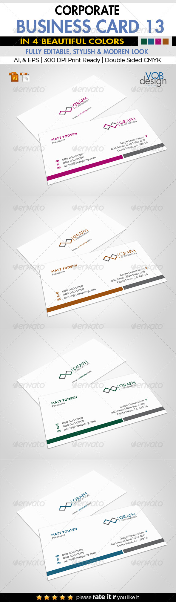 GraphicRiver Corporate Business Card 13 6181366