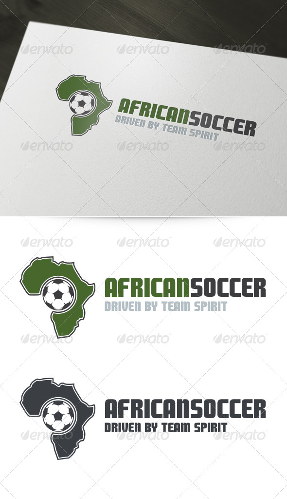 African Soccer Logo Template