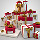 45 Present / Gift Box HiRes christmas-with bow - GraphicRiver Item for Sale