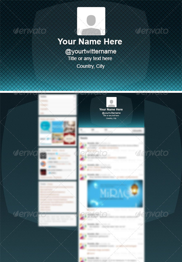 GraphicRiver Professional Clean Twitter Background PSD 6182145