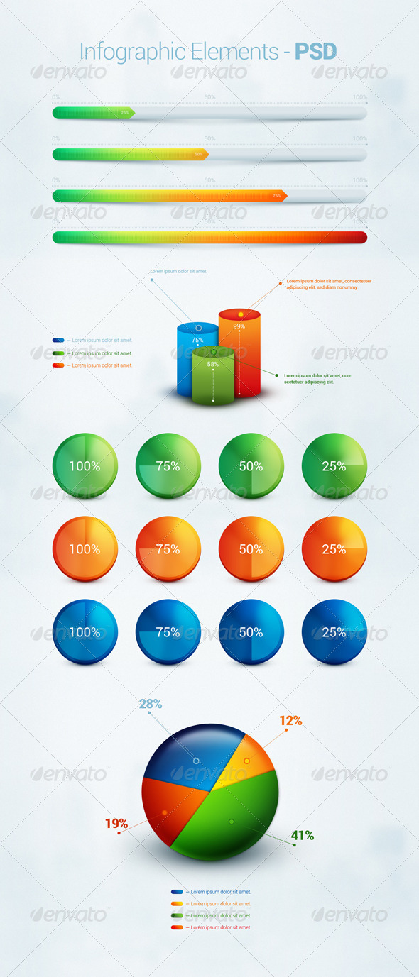 GraphicRiver Infographic Element PSD 6182291