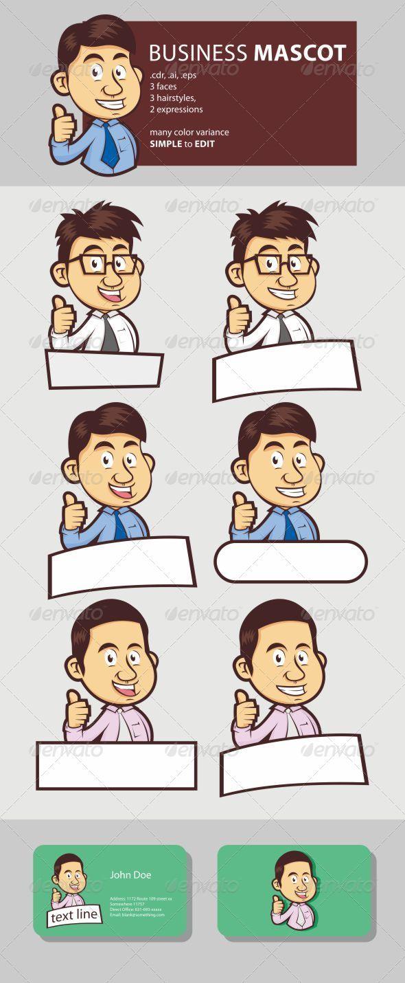 GraphicRiver Business Male Mascot 6167750