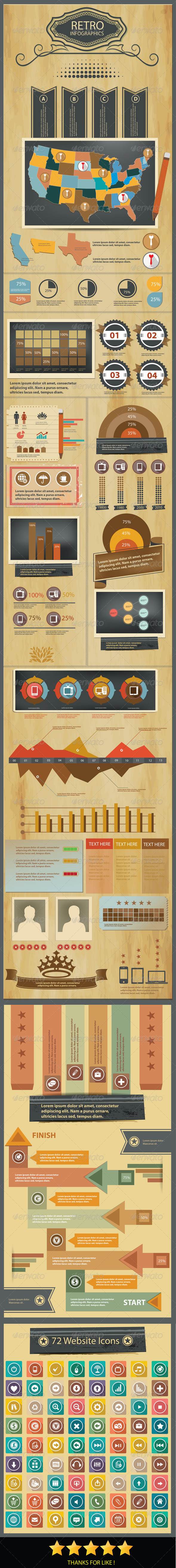 GraphicRiver Grunge concept Infographics design 6182634