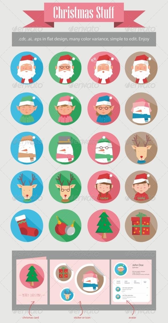 GraphicRiver Christmas Stuff 6182903