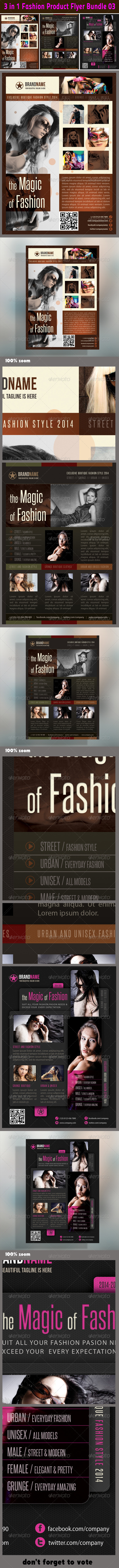 GraphicRiver 3 in 1 Fashion Product Flyer Bundle 03 6183149