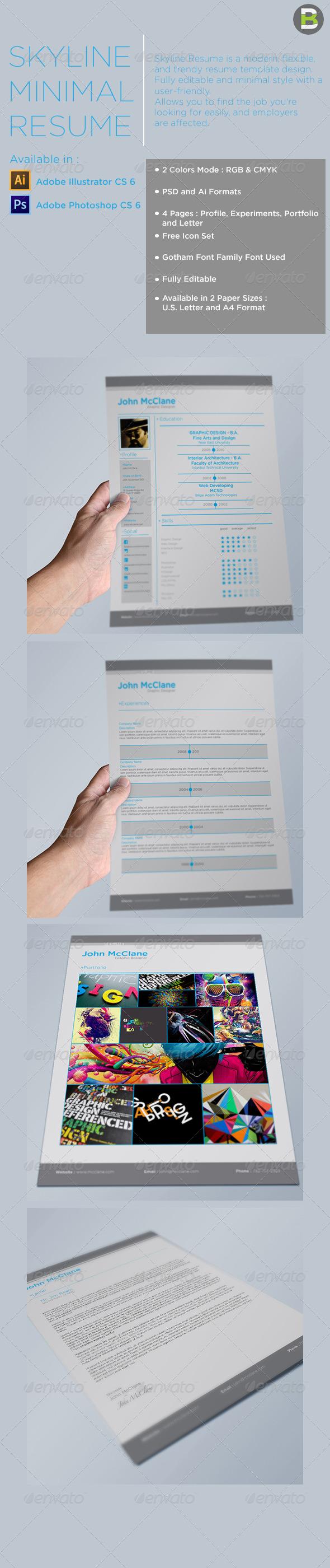GraphicRiver Skyline Resume 6135321