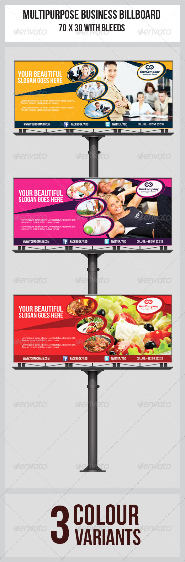 GraphicRiver Multipurpose Business Billboard Template 6173677