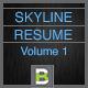 Skyline Resume - GraphicRiver Item for Sale