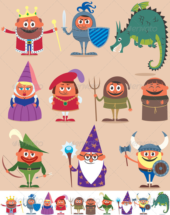 GraphicRiver Medieval People 6183902