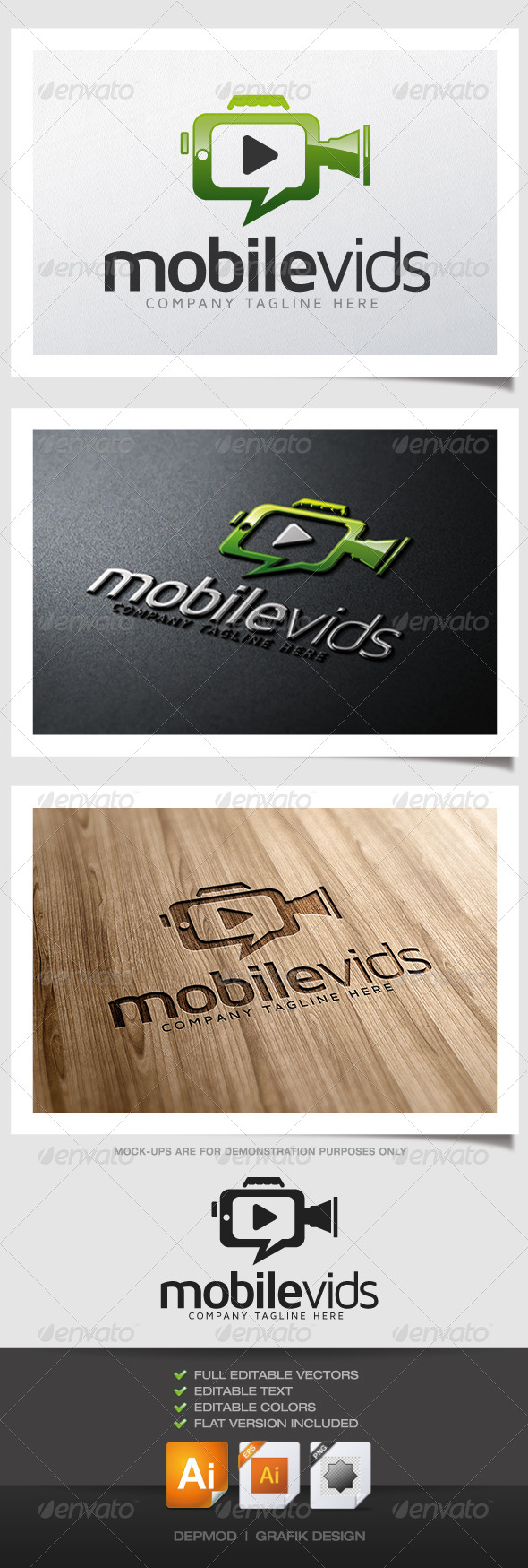 Mobile Vids - Symbols Logo Templates