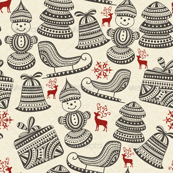 GraphicRiver Vector Seamless Winter Pattern 6184012