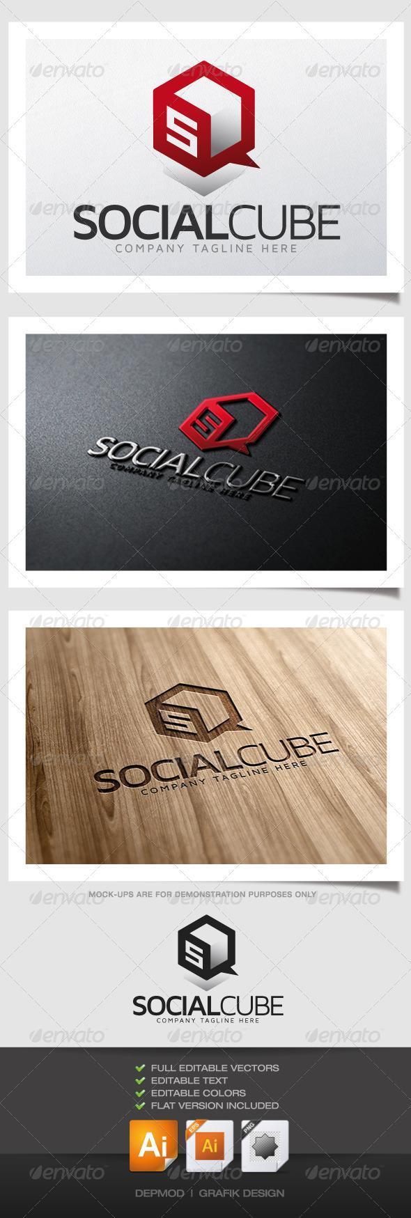 GraphicRiver Social Cube Logo 6184113