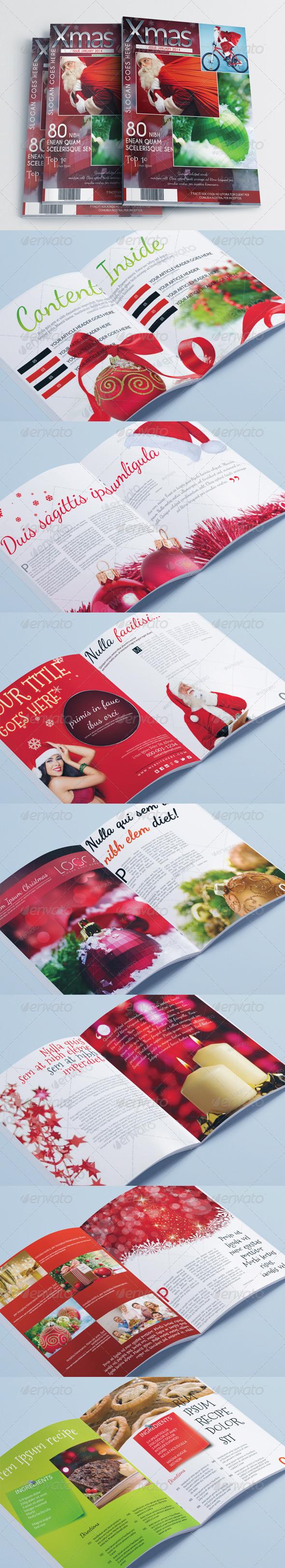 GraphicRiver Magazine Template Christmas Edition 6171546