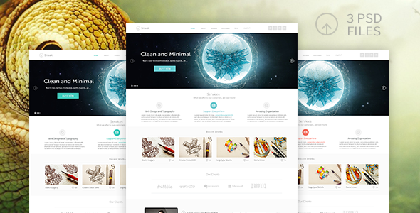ThemeForest Sneak One Page Template 6184169