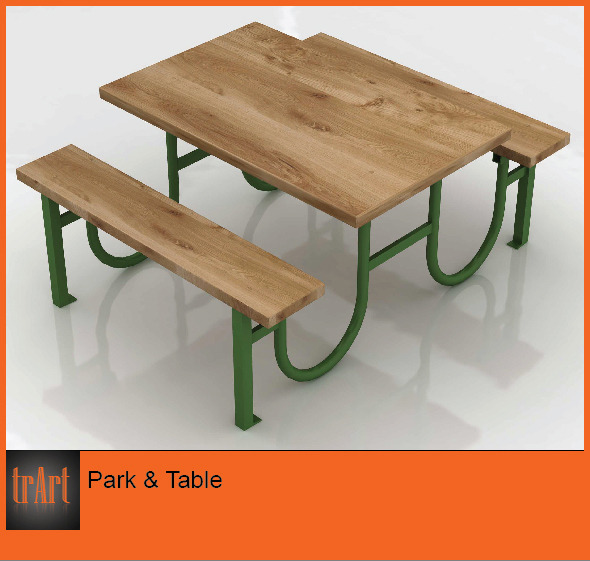 3DOcean Park Table 6184192