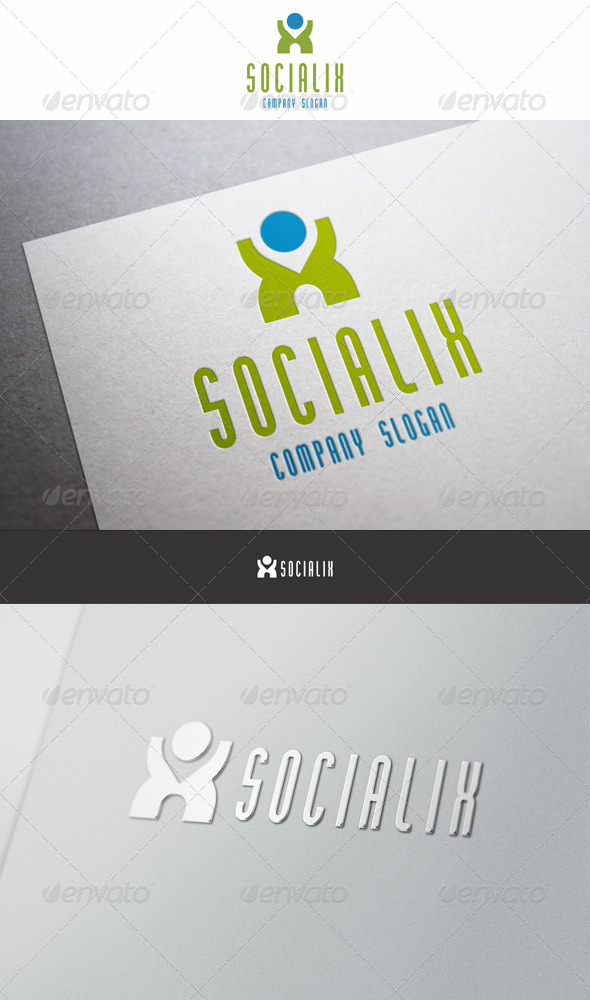 GraphicRiver Social X Man Logo 6184246