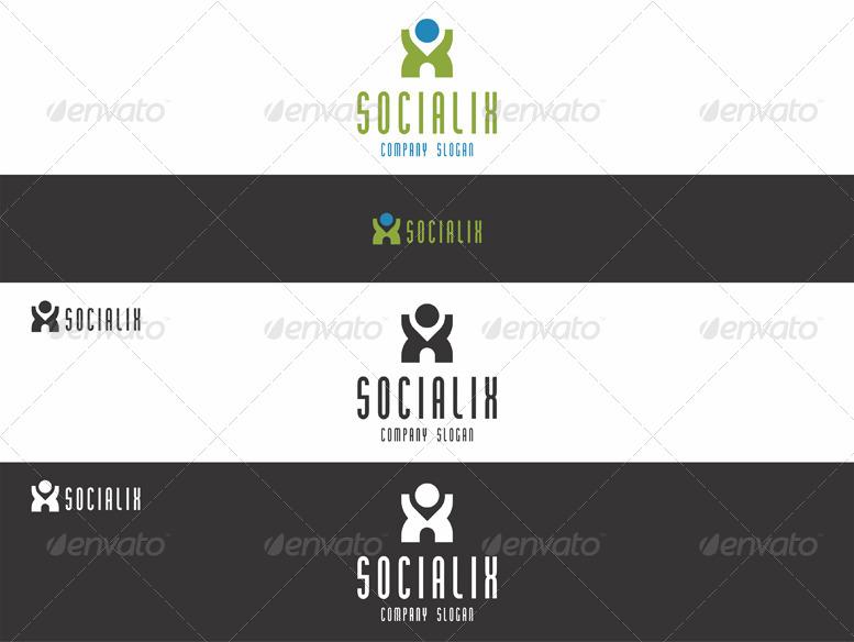 Social X Man Logo