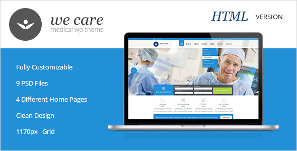 ThemeForest We Care Premium Medical HTML Template 6160939