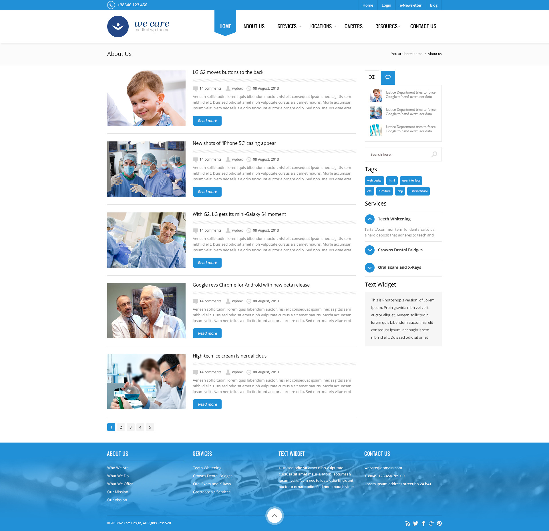 We Care - Premium Medical HTML Template
