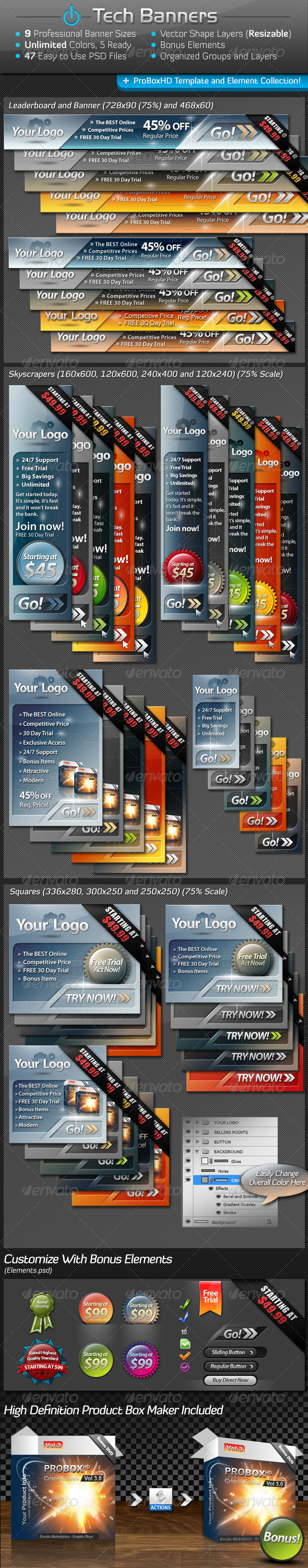 GraphicRiver Tech Banners Mega Pack 6184935