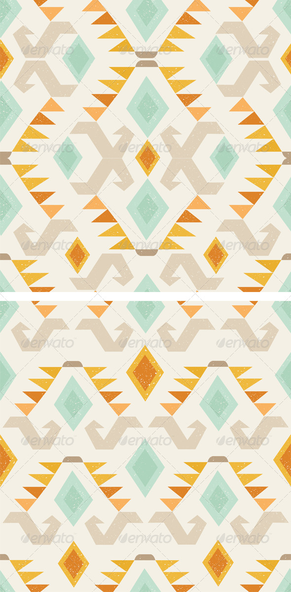 GraphicRiver 2 Geometric Ethnic Patterns 6184954