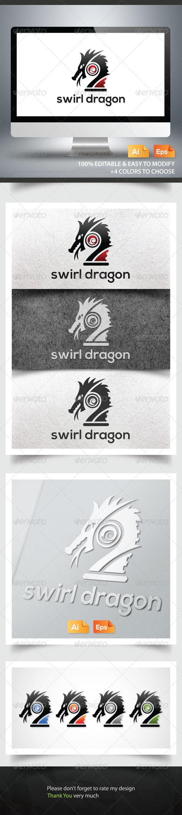 GraphicRiver Swirl Dragon 6185068