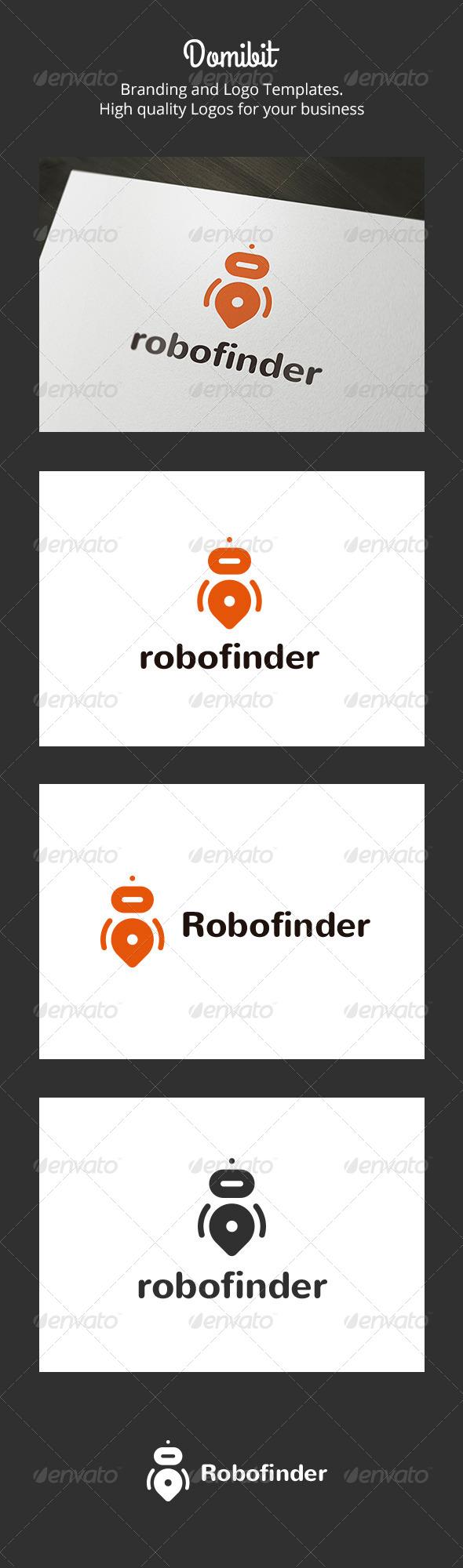 GraphicRiver Robofinder Robot Finder Logo 6160817