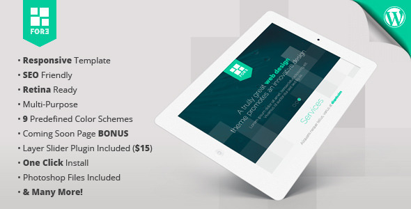 ThemeForest Fore WP responsive retina-ready one-page theme 6059335