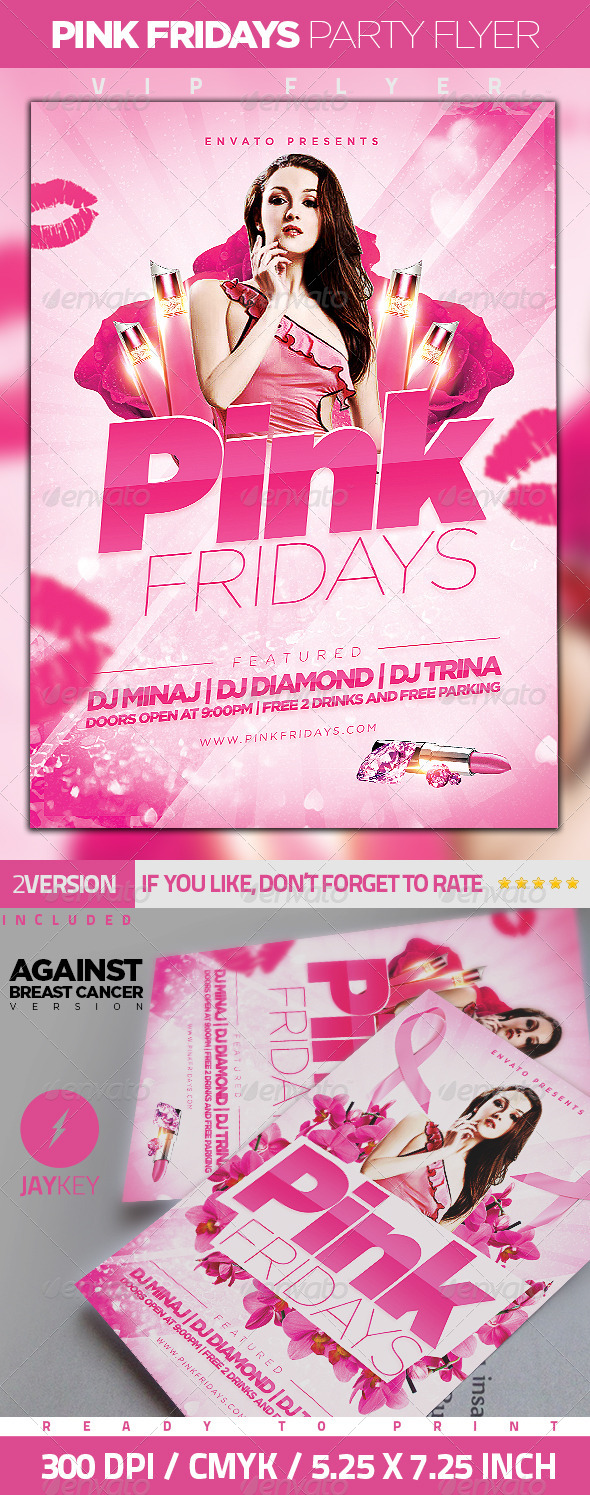 GraphicRiver Pink Friday Party Flyer 6185719