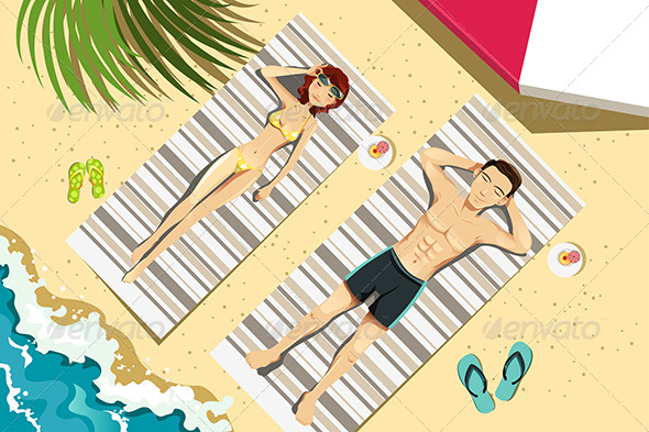 GraphicRiver Couple on the Beach 6177677