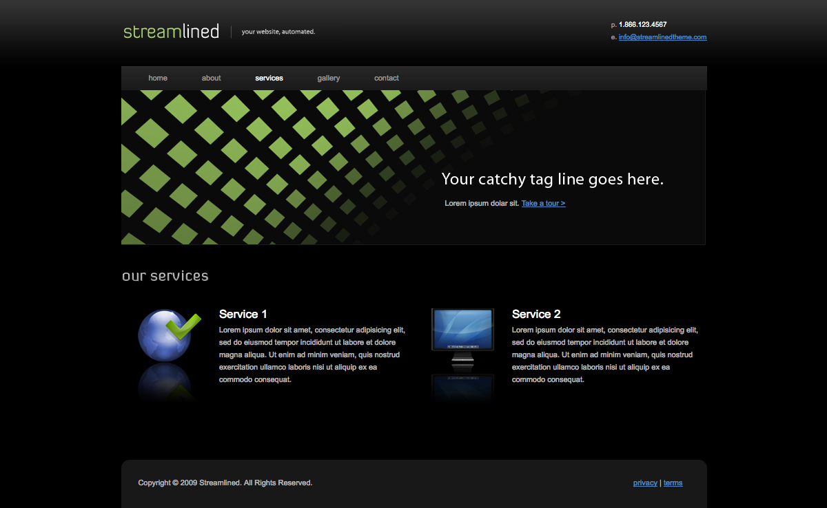 Streamlined - Streamlined - Services Page.