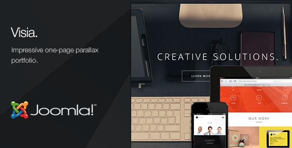 Visia - One Page Portfolio Joomla Template - Creative Joomla