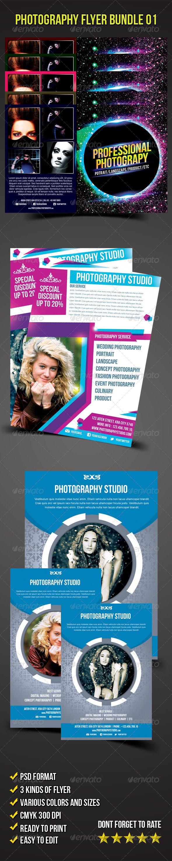 GraphicRiver Flyer Bundle 01 Photography Flyer 5842282