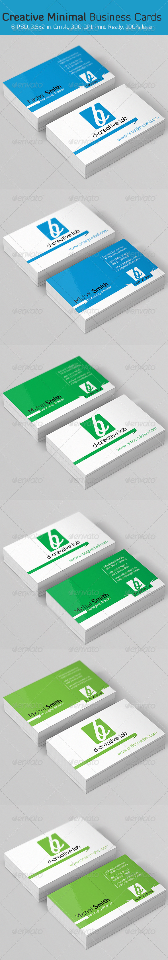 GraphicRiver Creative Minimal Business Card 6186680