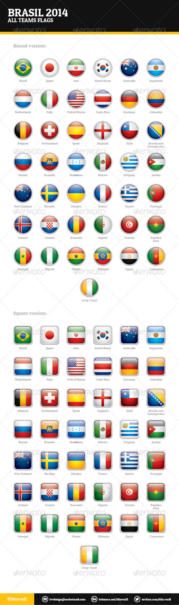 GraphicRiver Brasil 2014 All Teams Flags 6161408