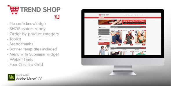 ThemeForest Trend Shop Muse E-Commerce Shop Ready 6186867