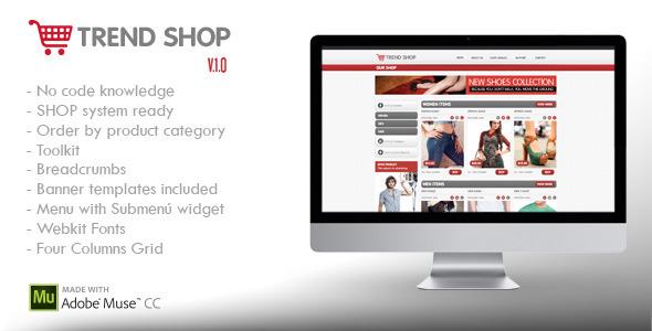 Trend Shop Muse | E-Commerce Shop Ready