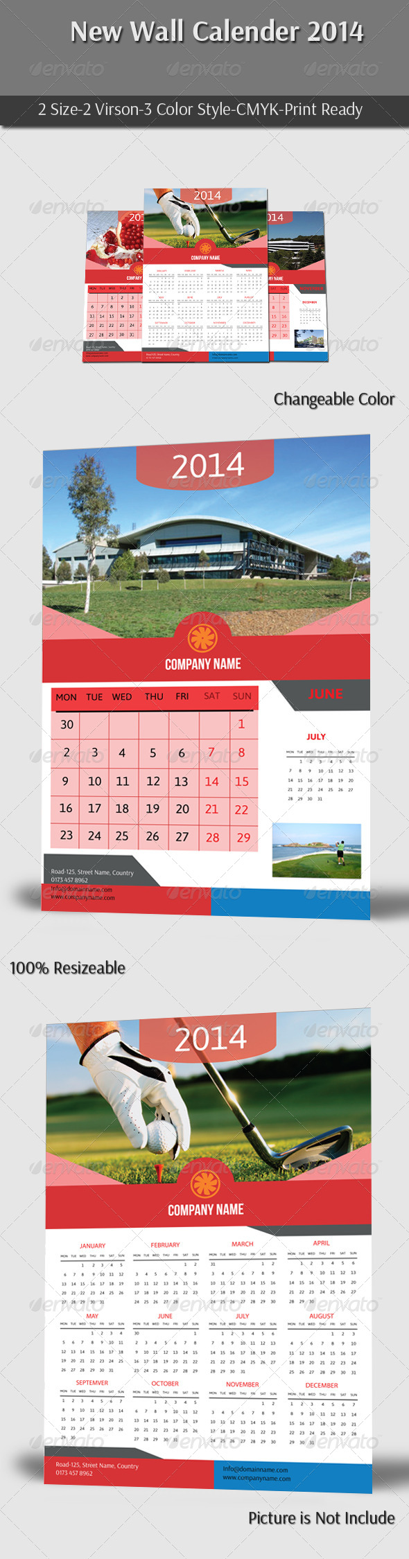 GraphicRiver New Wall Calender 2014 6186918