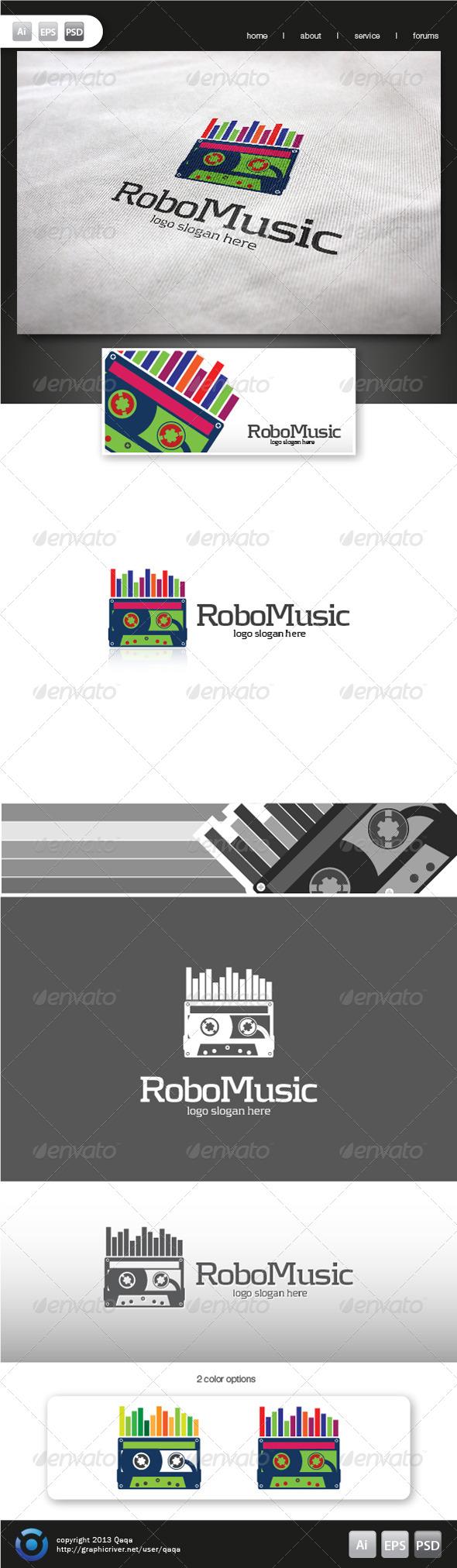 GraphicRiver Robo Music Logo 6186949