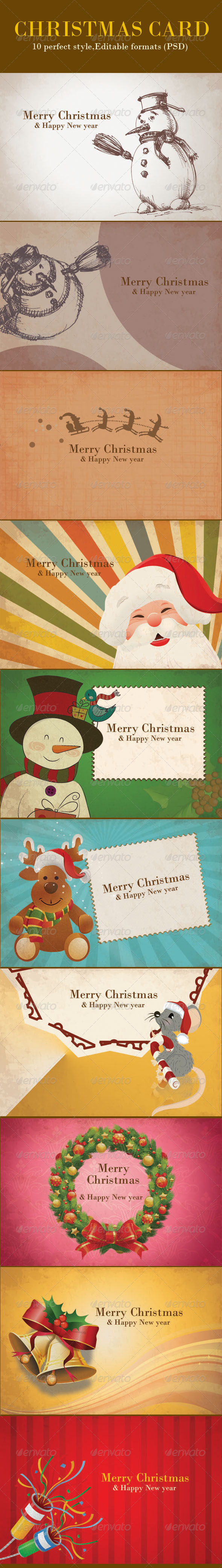 Vintage Christmas Backgrounds Card